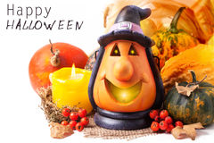 Halloween lantern and pumpkins Royalty Free Stock Photos