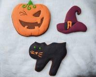 Halloween-Lebkuchen Stockbild