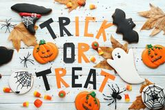 Halloween-Lebkuchenplätzchen stockfotos