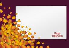 Halloween Leeres Formular mit Kürbisen glückliches neues Jahr 2007 vektor abbildung