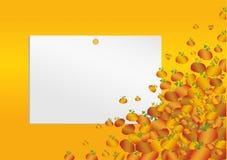 Halloween Leeres Formular mit Kürbisen Grußkarte für ein h lizenzfreie abbildung