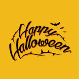 Halloween lettering greeting card EPS 10 Stock Photo