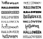 HALLOWEEN LETTERING. Isolated halloween text with cracks and blood in vector. See more in my portfolio Royalty Free Stock Photo