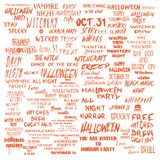 Halloween lettering phrases overlay set. Scary quotes. Spooky ho vector illustration