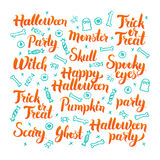 Halloween Lettering Set royalty free illustration