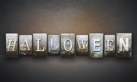 Halloween Letterpress Stock Image
