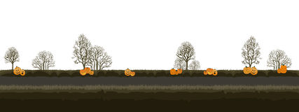 Halloween - Level 1. Cyclic backgrounds for games, websites, advertisements, etc Royalty Free Stock Images