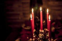 Halloween-lichte de lijst donkere decoratie van de Partijkaars Royalty-vrije Stock Afbeelding