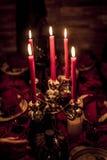 Halloween-lichte de lijst donkere decoratie van de Partijkaars Stock Fotografie
