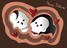 Halloween-Liebe lizenzfreie abbildung