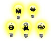 Halloween light bulbs Royalty Free Stock Images