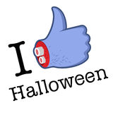 Halloween Like/Thumbs Up symbol Stock Photography