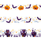 Halloween line. Halloween background image by watercolor paint touch stock illustration