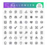 Halloween Line Icons Set. Set of 56 Halloween line icons suitable for gui, web, infographics and apps. on white background. Clipping paths included.r stock illustration
