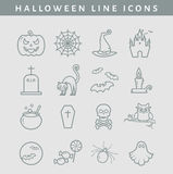 Halloween line icons. Vector set. Stock Photo