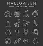 Halloween line icons. Vector set. Royalty Free Stock Images