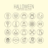 Halloween Linear Icons Stock Image