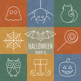 Halloween linear icons set with editable stroke Stock Image