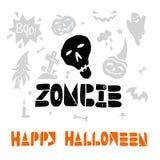Halloween Lino cut Vector Stock Image