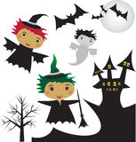 Halloween сlip-art Royalty Free Stock Photo