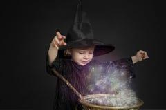 halloween liten häxa Royaltyfri Bild
