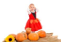halloween liten häxa royaltyfri foto
