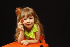 Halloween little girl Royalty Free Stock Photos