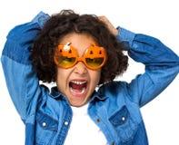Halloween little girl Royalty Free Stock Photography