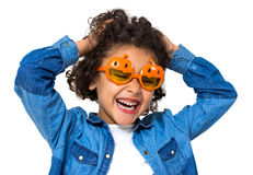 Halloween little girl Royalty Free Stock Images