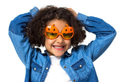 Halloween little girl Royalty Free Stock Image
