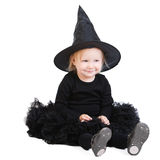 Halloween little witch Stock Photography