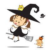 Halloween Little Wizard Royalty Free Stock Photos