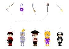 Halloween logic task for kids Royalty Free Stock Images
