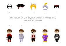 Halloween logic task for kids Royalty Free Stock Photography