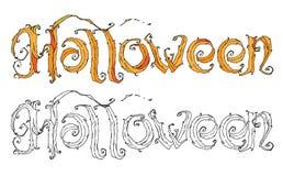 Halloween Logo  Royalty Free Stock Photography
