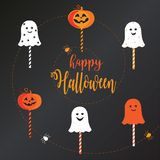 Halloween Lollipop candy set stock illustration