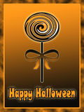 Halloween lollipop illustration Stock Image