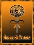 Halloween lollipop illustration Stock Image