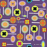 Halloween lollypops purple pattern vector illustration