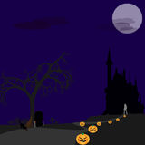 Halloween lonely Royalty Free Stock Photos
