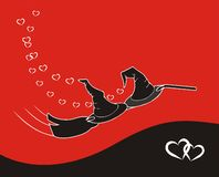 The halloween love vector illustration