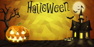 Halloween low poly composition Stock Images