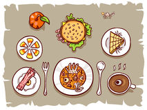 Halloween lunch banner Stock Images
