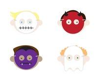 halloween lurar maskeringsslitage Royaltyfri Bild