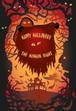 halloween lycklig affisch Fotografering för Bildbyråer
