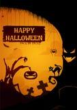 halloween lycklig affisch royaltyfri foto
