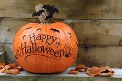 halloween lycklig pumpa Arkivbilder