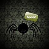 halloween lycklig spindel Arkivbilder