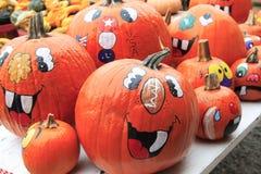 halloween lyckliga pumpor Fotografering för Bildbyråer