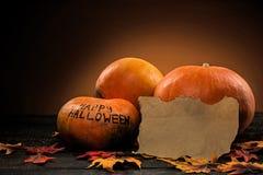 halloween lyckliga pumpor Royaltyfria Bilder